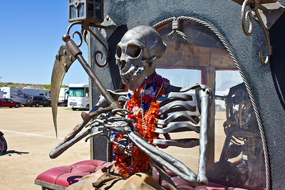 More Mr. Bonz - Bare Bonz Choppers - Custom hand forged chopper and hearse made by Vaughn & Lori Shafer of Colorado Springs, CO