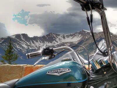 My Roadking in Rocky Mountain National Park.
