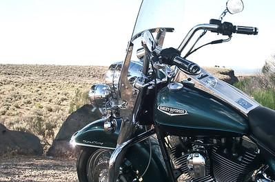 My Ride in New Mexico by the Rio Grande bridge near Taos.