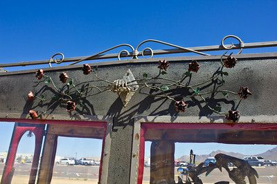 Roses - Bare Bonz Choppers - Custom hand forged chopper and hearse made by Vaughn & Lori Shafer of Colorado Springs, CO