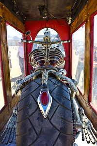 The Bare Bonz Chopper - Custom hand forged chopper and hearse made by Vaughn & Lori Shafer of Colorado Springs, CO