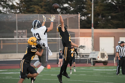 Taken during Varsity Football game between Carlmont Scot's and MVHS Spartans at Mountain View High School CA on September 8th 2017