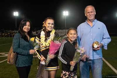 Taken before, during or immediately after a High School Football game between the Month Vista Matadors and Mountain View Spartans at MVHS in Mountain View California 11-2-2018. Final score 13-61 to the Spartans. The game was the 2018 Spartan Senior Game and included ceremonies to recognize Football and Cheer Senior students.
