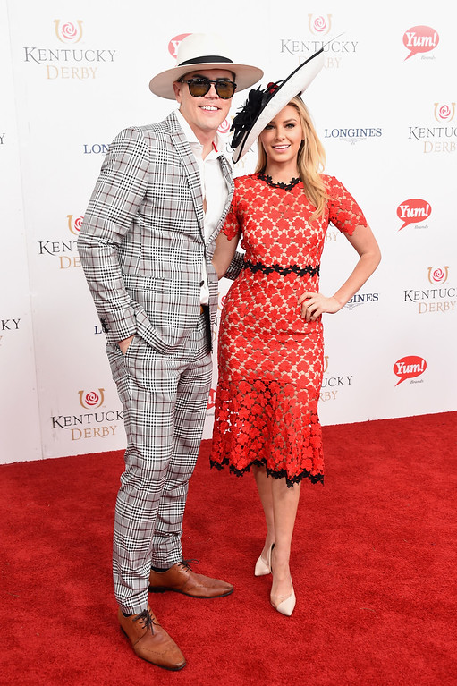 . LOUISVILLE, KY - MAY 06: Tom Sandoval and Ariana Madix attend the 143rd Kentucky Derby at Churchill Downs on May 6, 2017 in Louisville, Kentucky.  (Photo by Michael Loccisano/Getty Images for Churchill Downs)