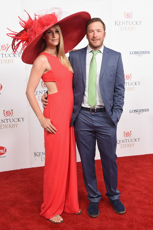 . LOUISVILLE, KY - MAY 06: Morgan Beck and Bode Miller attend the 143rd Kentucky Derby at Churchill Downs on May 6, 2017 in Louisville, Kentucky.  (Photo by Michael Loccisano/Getty Images for Churchill Downs)