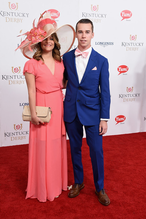 . LOUISVILLE, KY - MAY 06: Ann Norris Rhodes and Ben Rhodes attend the 143rd Kentucky Derby at Churchill Downs on May 6, 2017 in Louisville, Kentucky.  (Photo by Michael Loccisano/Getty Images for Churchill Downs)