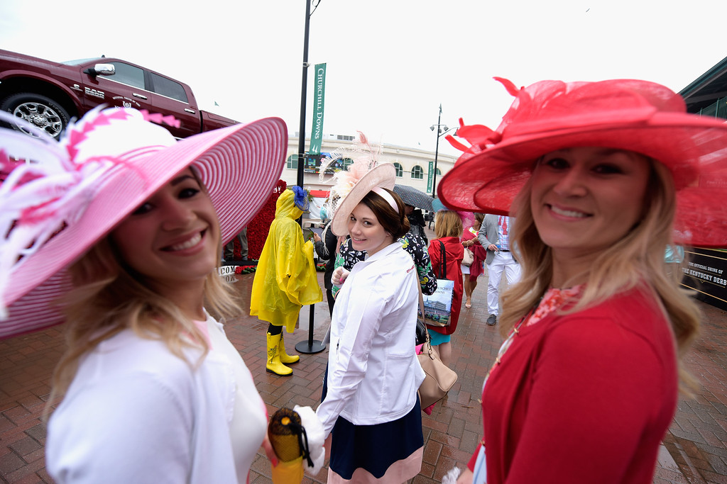 . LOUISVILLE, KY - MAY 06:  A view of the 143rd Kentucky Derby at Churchill Downs on May 6, 2017 in Louisville, Kentucky.  (Photo by Gustavo Caballero/Getty Images for Churchill Downs)