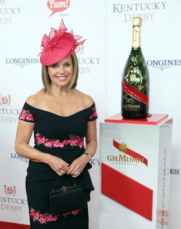. Katie Couric seen at G.H. Mumm Champagne on the Red Carpet at Churchill Downs on Saturday, May 6, 2017, in Louisville, Ky. (Photo by Matt Sayles/Invision for G.H. MUMM Champagne/AP Images)