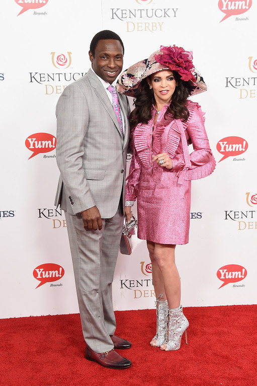 . LOUISVILLE, KY - MAY 06:  Avery Johnson and Cassandra Johnson attend the 143rd Kentucky Derby at Churchill Downs on May 6, 2017 in Louisville, Kentucky.  (Photo by Michael Loccisano/Getty Images for Churchill Downs)