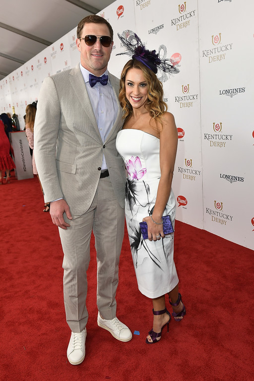 . LOUISVILLE, KY - MAY 06: Jason Witten and Michelle Witten attend the 143rd Kentucky Derby at Churchill Downs on May 6, 2017 in Louisville, Kentucky.  (Photo by Gustavo Caballero/Getty Images for Churchill Downs)