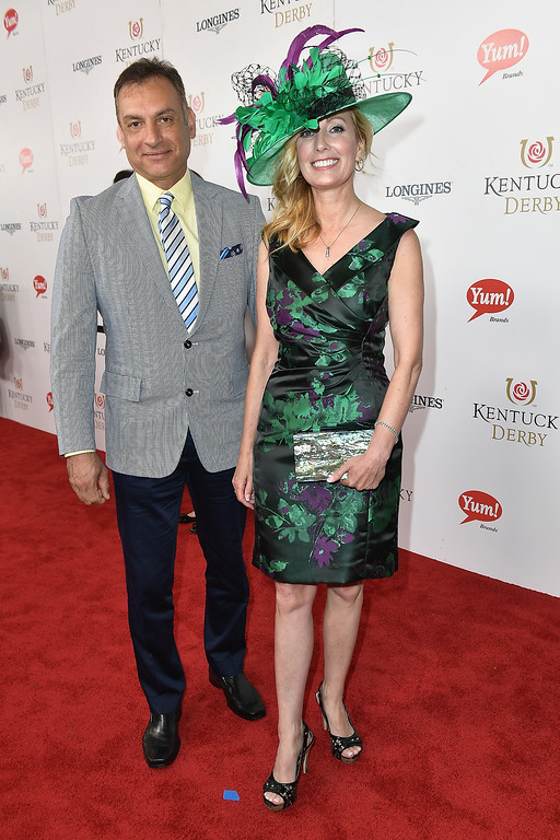 . LOUISVILLE, KY - MAY 06: Angie Zuvon Nenni (R) attends the 143rd Kentucky Derby at Churchill Downs on May 6, 2017 in Louisville, Kentucky.  (Photo by Gustavo Caballero/Getty Images for Churchill Downs)