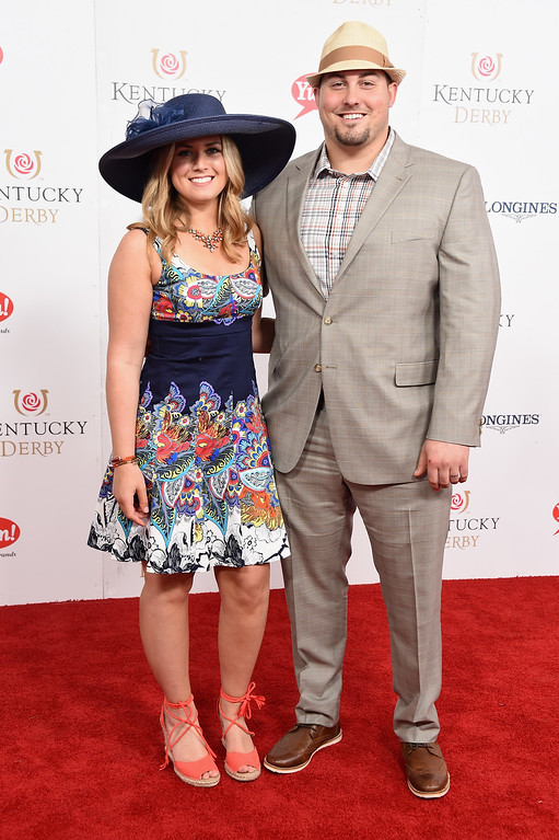 . LOUISVILLE, KY - MAY 06:  Ryan Groy (R) attends the 143rd Kentucky Derby at Churchill Downs on May 6, 2017 in Louisville, Kentucky.  (Photo by Michael Loccisano/Getty Images for Churchill Downs)