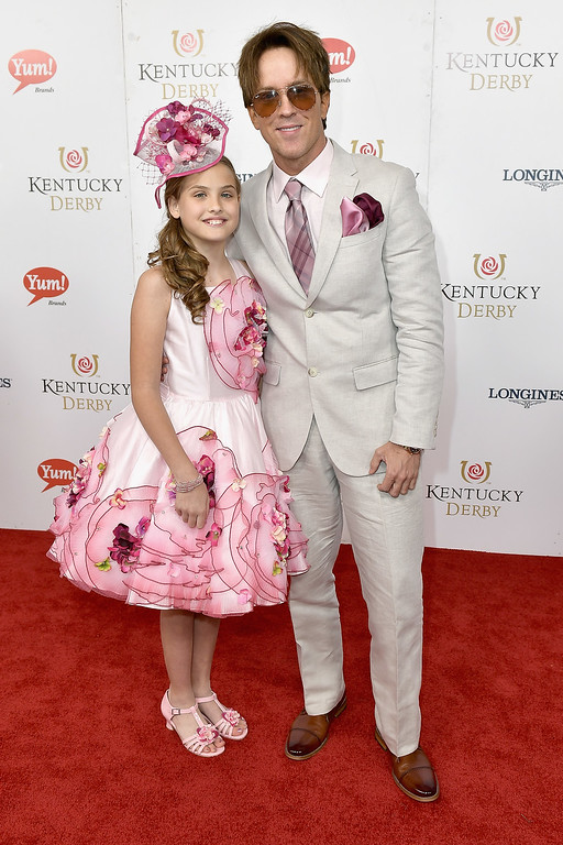 . LOUISVILLE, KY - MAY 06:  Dannielynn Birkhead and Larry Birkhead attend the 143rd Kentucky Derby at Churchill Downs on May 6, 2017 in Louisville, Kentucky.  (Photo by Gustavo Caballero/Getty Images for Churchill Downs)