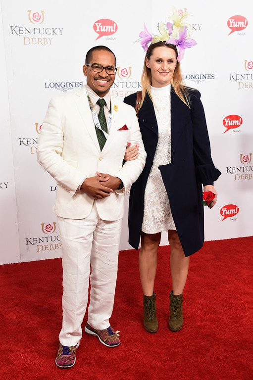 . LOUISVILLE, KY - MAY 06: Dan Casara and Basia Casara attend the 143rd Kentucky Derby at Churchill Downs on May 6, 2017 in Louisville, Kentucky.  (Photo by Michael Loccisano/Getty Images for Churchill Downs)