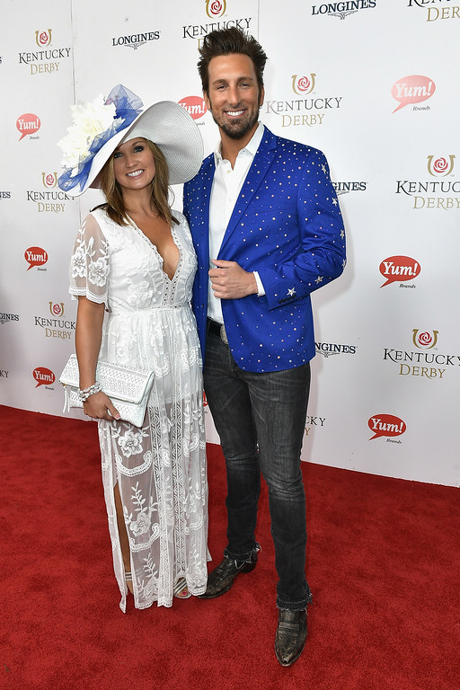 . LOUISVILLE, KY - MAY 06:  JD Shelburne (R) attends the 143rd Kentucky Derby at Churchill Downs on May 6, 2017 in Louisville, Kentucky.  (Photo by Gustavo Caballero/Getty Images for Churchill Downs)