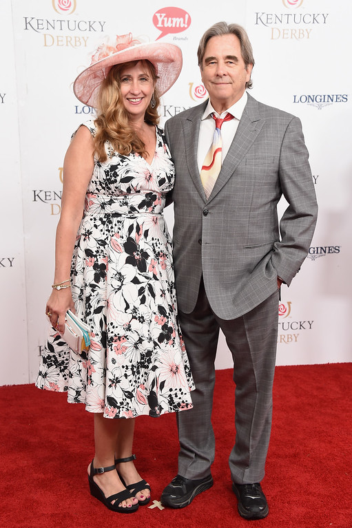 . LOUISVILLE, KY - MAY 06:  Wendy Treece Bridges and Beau Bridges attend the 143rd Kentucky Derby at Churchill Downs on May 6, 2017 in Louisville, Kentucky.  (Photo by Michael Loccisano/Getty Images for Churchill Downs)