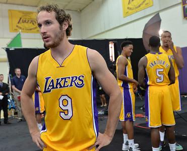 Los Angeles Lakers Media Day in El Segundo Monday September 28, 2015. Guard Marcelo Huertas. Photo By  Robert Casillas / Daily Breeze