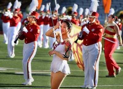2015 Rose Parade: Pasadena City College Tournament of Roses Honor Band & Herald Trumpets, Pasadena, Calif.