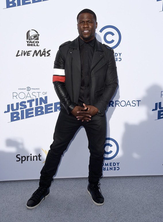 . Kevin Hart arrives at the Comedy Central Roast of Justin Bieber at Sony Pictures Studios on Saturday, March 14, 2015, in Culver City, Calif. (Photo by Jordan Strauss/Invision/AP)