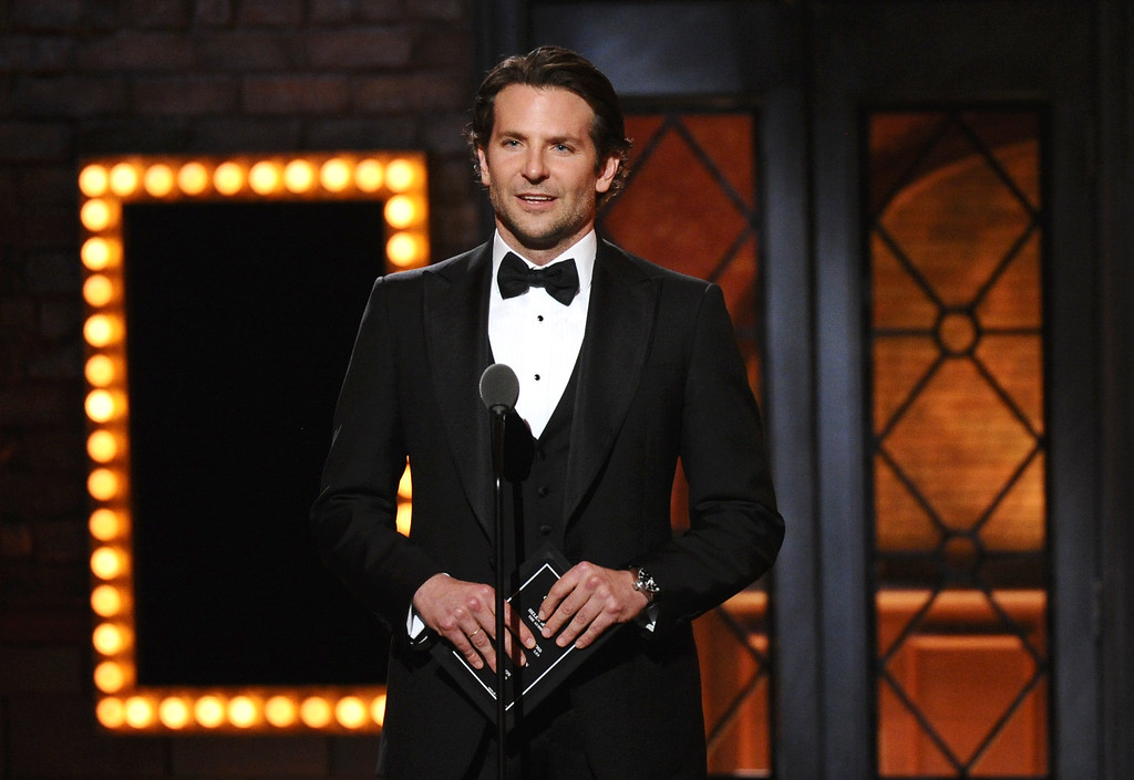 . Bradley Cooper presents the award for best performance by an actress in a leading role in a play at the 69th annual Tony Awards at Radio City Music Hall on Sunday, June 7, 2015, in New York. (Photo by Charles Sykes/Invision/AP)