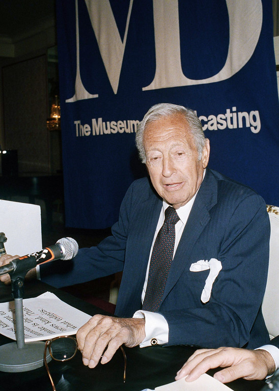 . William Paley, founder of CBS, at the Museum of Broadcasting, July 7, 1988, New York. (AP Photo)