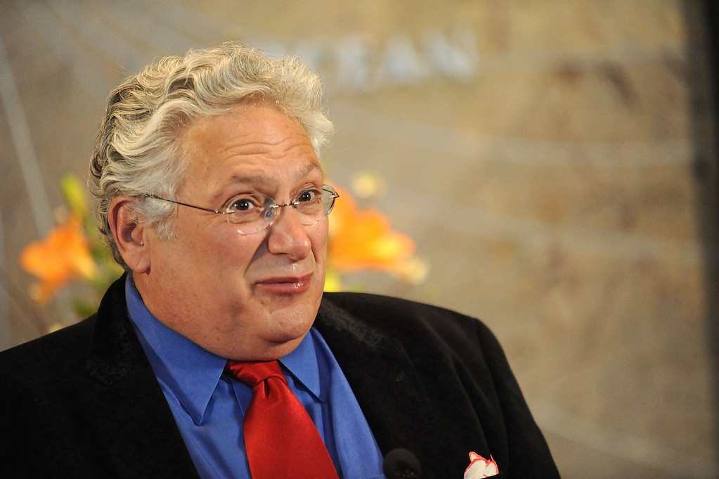 . Actor Harvey Fierstein attends the Harvey Fierstein Hosts Light Up New York Launch At The Empire State Building In Honor Of The 30th Annual AIDS Walk New York at The Empire State Building on May 14, 2015 in New York City.  (Photo by Brad Barket/Getty Images)