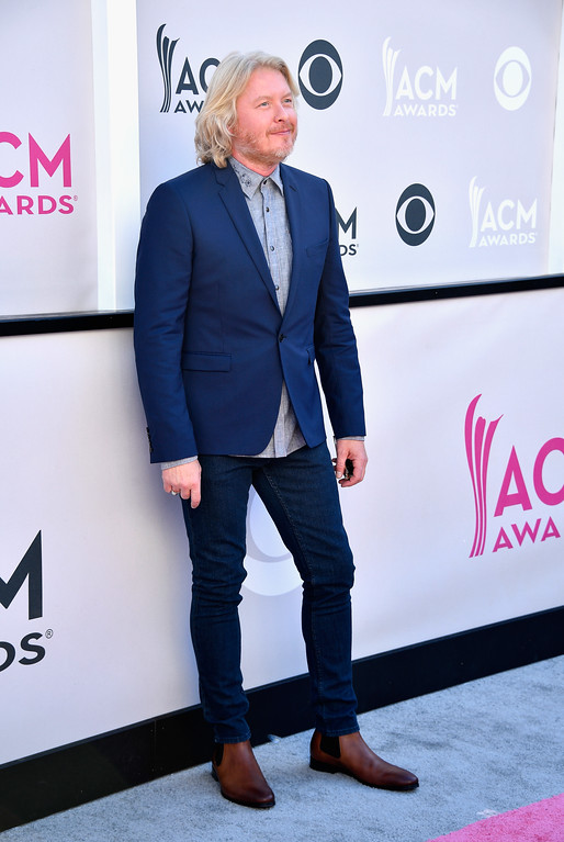 . LAS VEGAS, NV - APRIL 02:  Recording artist Phillip Sweet of music group Little Big Town attends the 52nd Academy Of Country Music Awards at Toshiba Plaza on April 2, 2017 in Las Vegas, Nevada.  (Photo by Frazer Harrison/Getty Images)