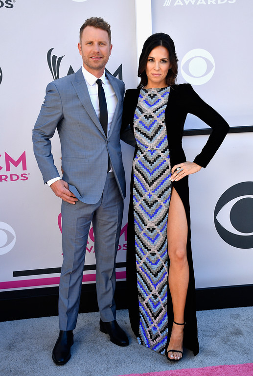 . LAS VEGAS, NV - APRIL 02:  Co-host Dierks Bentley (L) and Cassidy Black attend the 52nd Academy Of Country Music Awards at Toshiba Plaza on April 2, 2017 in Las Vegas, Nevada.  (Photo by Frazer Harrison/Getty Images)