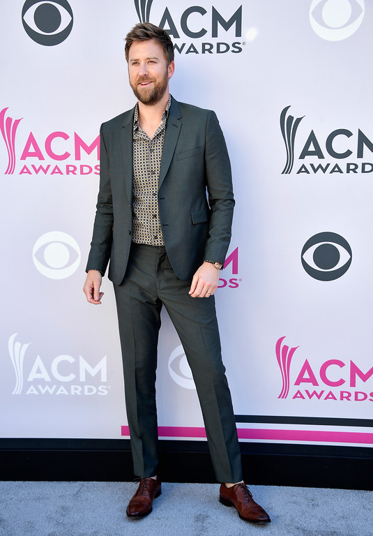 . LAS VEGAS, NV - APRIL 02:  Recording artist Charles Kelley of music group Lady Antebellum attends the 52nd Academy Of Country Music Awards at Toshiba Plaza on April 2, 2017 in Las Vegas, Nevada.  (Photo by Frazer Harrison/Getty Images)