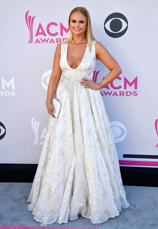 . LAS VEGAS, NV - APRIL 02:  Recording artist Miranda Lambert attends the 52nd Academy Of Country Music Awards at Toshiba Plaza on April 2, 2017 in Las Vegas, Nevada.  (Photo by Frazer Harrison/Getty Images)