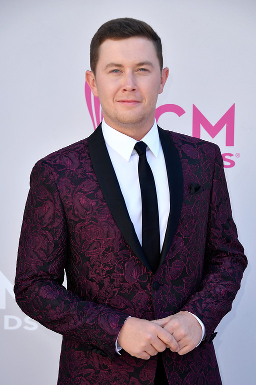 . LAS VEGAS, NV - APRIL 02:  Recording artist Scotty McCreery attends the 52nd Academy Of Country Music Awards at Toshiba Plaza on April 2, 2017 in Las Vegas, Nevada.  (Photo by Frazer Harrison/Getty Images)