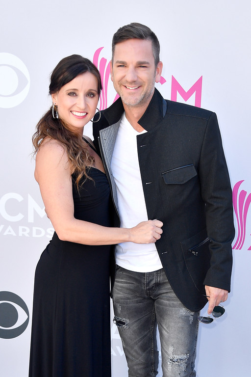 . LAS VEGAS, NV - APRIL 02:  Recording artists Mindy Ellis (L) and Craig Campbell attend the 52nd Academy Of Country Music Awards at Toshiba Plaza on April 2, 2017 in Las Vegas, Nevada.  (Photo by Frazer Harrison/Getty Images)