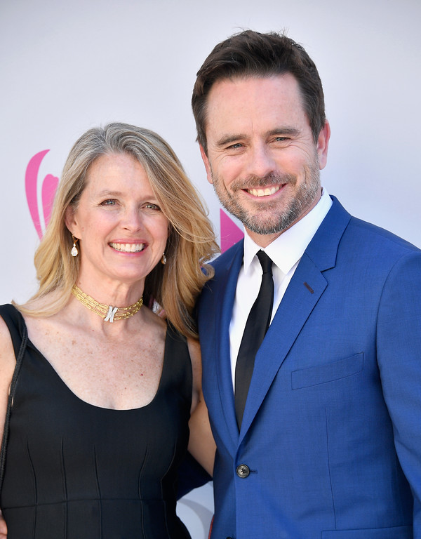 . LAS VEGAS, NV - APRIL 02:  Patty Hanson (L) and recording artist-actor Charles Esten attend the 52nd Academy Of Country Music Awards at Toshiba Plaza on April 2, 2017 in Las Vegas, Nevada.  (Photo by Frazer Harrison/Getty Images)