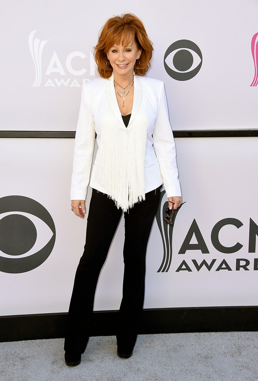 . Reba McEntire arrives at the 52nd annual Academy of Country Music Awards at the T-Mobile Arena on Sunday, April 2, 2017, in Las Vegas. (Photo by Jordan Strauss/Invision/AP)