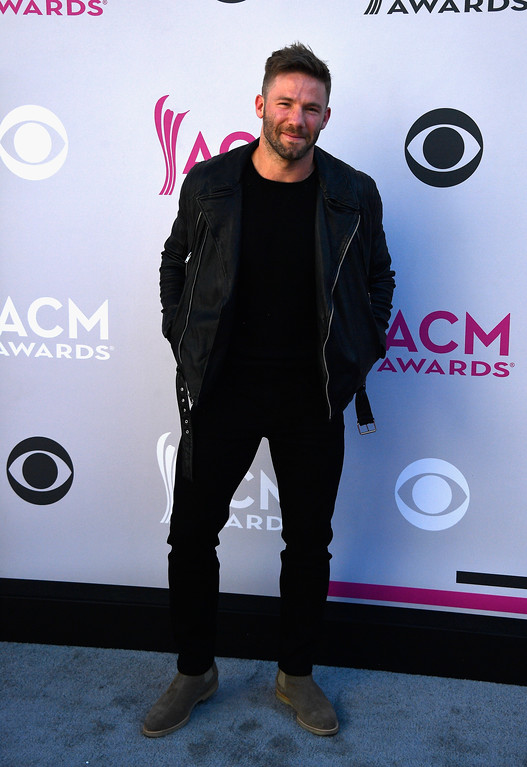 . LAS VEGAS, NV - APRIL 02:  NFL player Julian Edelman attends the 52nd Academy Of Country Music Awards at Toshiba Plaza on April 2, 2017 in Las Vegas, Nevada.  (Photo by Frazer Harrison/Getty Images)