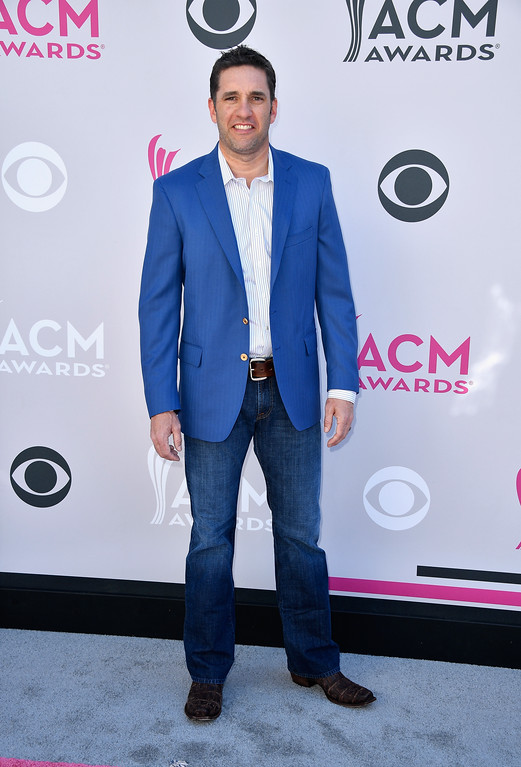 . LAS VEGAS, NV - APRIL 02:  Professional race car driver Elliott Sadler attends the 52nd Academy Of Country Music Awards at Toshiba Plaza on April 2, 2017 in Las Vegas, Nevada.  (Photo by Frazer Harrison/Getty Images)