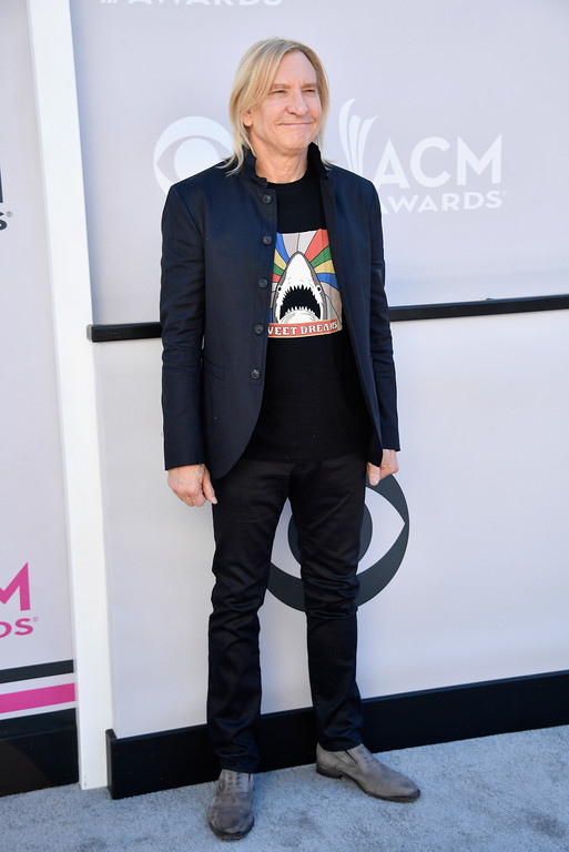 . LAS VEGAS, NV - APRIL 02:  Recording artist Joe Walsh attends the 52nd Academy Of Country Music Awards at Toshiba Plaza on April 2, 2017 in Las Vegas, Nevada.  (Photo by Frazer Harrison/Getty Images)