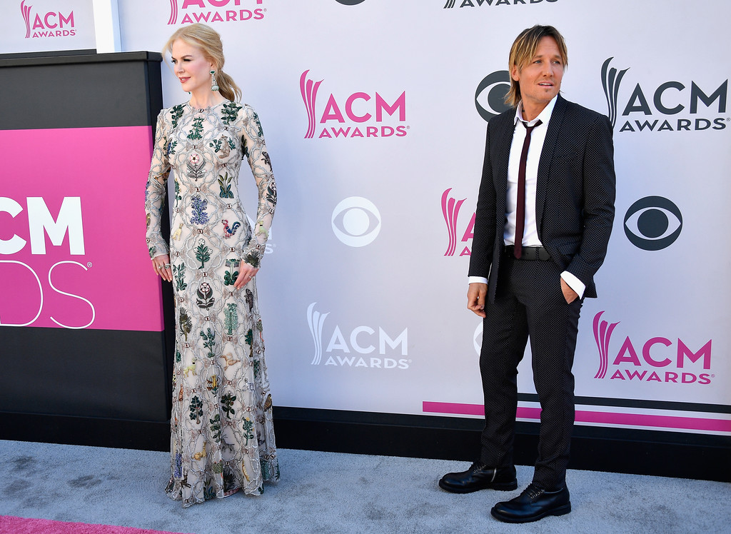 . LAS VEGAS, NV - APRIL 02:  Actor Nicole Kidman (L) and recording artist Keith Urban attend the 52nd Academy Of Country Music Awards at Toshiba Plaza on April 2, 2017 in Las Vegas, Nevada.  (Photo by Frazer Harrison/Getty Images)