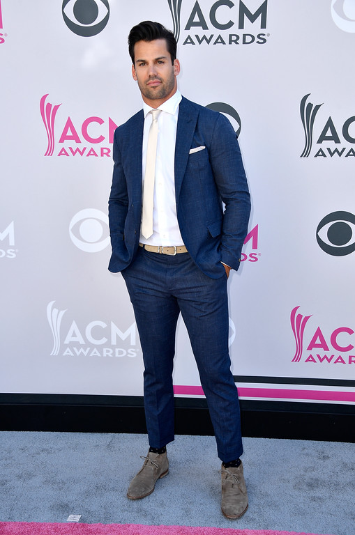. LAS VEGAS, NV - APRIL 02: NFL player Eric Decker  attends the 52nd Academy Of Country Music Awards at Toshiba Plaza on April 2, 2017 in Las Vegas, Nevada.  (Photo by Frazer Harrison/Getty Images)