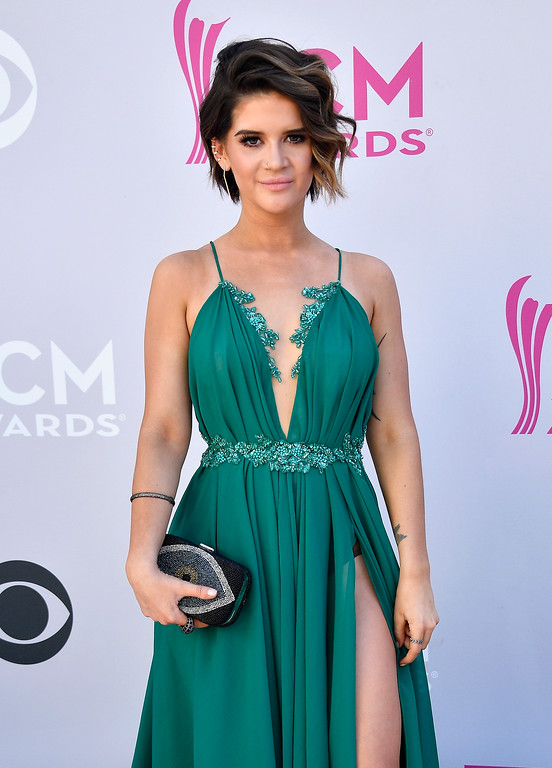 . LAS VEGAS, NV - APRIL 02:  Recording artist Maren Morris attends the 52nd Academy Of Country Music Awards at Toshiba Plaza on April 2, 2017 in Las Vegas, Nevada.  (Photo by Frazer Harrison/Getty Images)