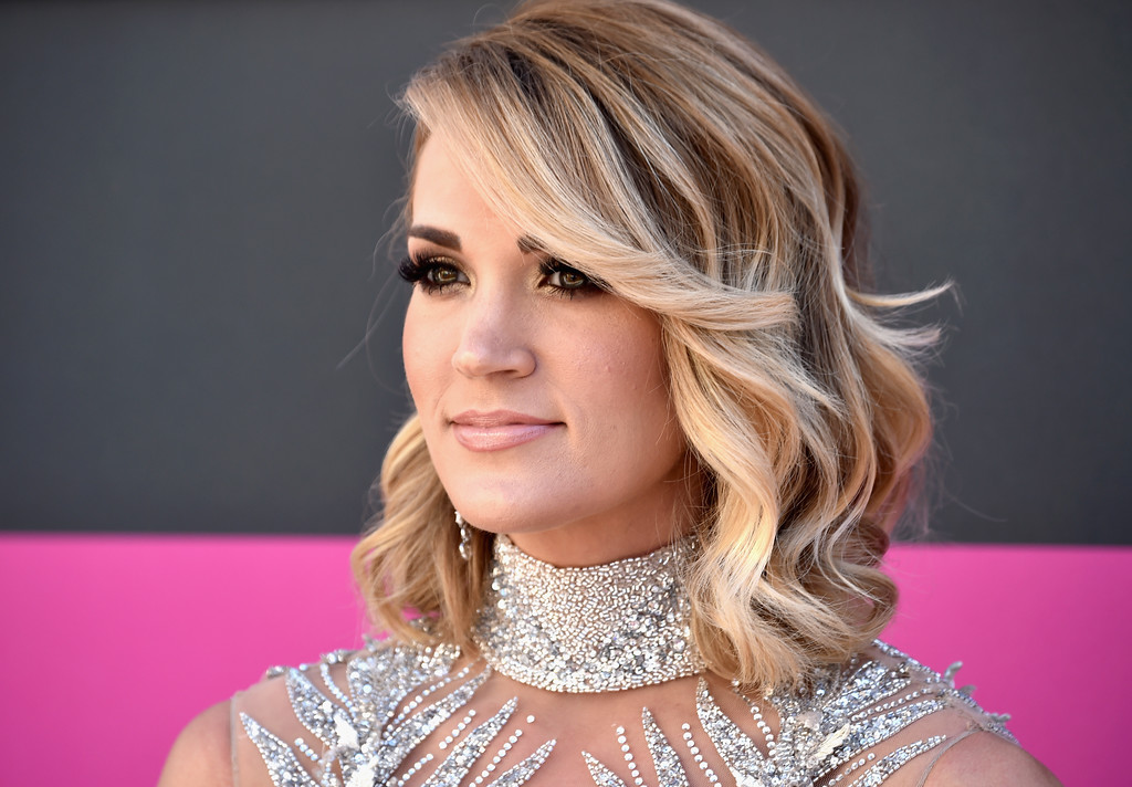 . LAS VEGAS, NV - APRIL 02:  Recording artist Carrie Underwood attends the 52nd Academy Of Country Music Awards at Toshiba Plaza on April 2, 2017 in Las Vegas, Nevada.  (Photo by Frazer Harrison/Getty Images)