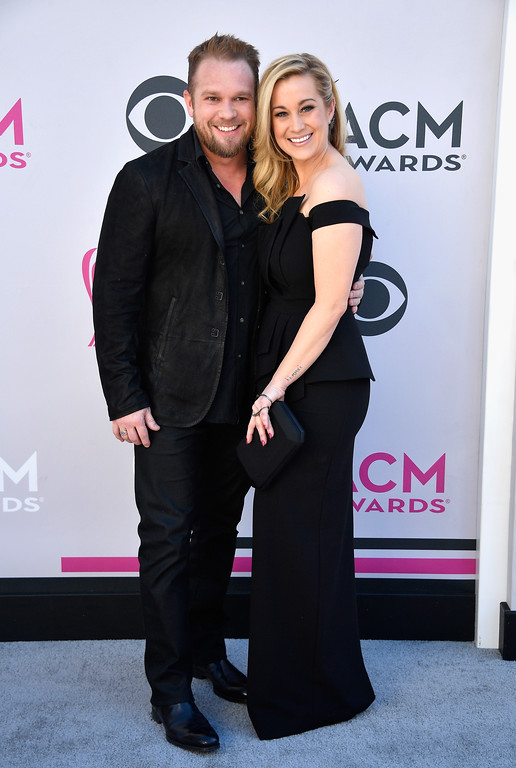 . LAS VEGAS, NV - APRIL 02:  Kyle Jacobs (L) and recording artist Kellie Pickler attend the 52nd Academy Of Country Music Awards at Toshiba Plaza on April 2, 2017 in Las Vegas, Nevada.  (Photo by Frazer Harrison/Getty Images)