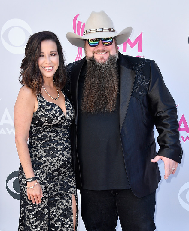 . LAS VEGAS, NV - APRIL 02:  Misty Head (L) and recording artist Sundance Head attend the 52nd Academy Of Country Music Awards at Toshiba Plaza on April 2, 2017 in Las Vegas, Nevada.  (Photo by Frazer Harrison/Getty Images)