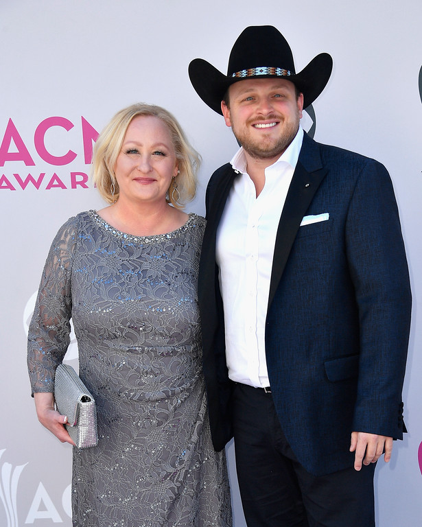 . LAS VEGAS, NV - APRIL 02:  Lynette Abbott (L) and recording artist Josh Abbott of music group Josh Abbott Band attend the 52nd Academy Of Country Music Awards at Toshiba Plaza on April 2, 2017 in Las Vegas, Nevada.  (Photo by Frazer Harrison/Getty Images)