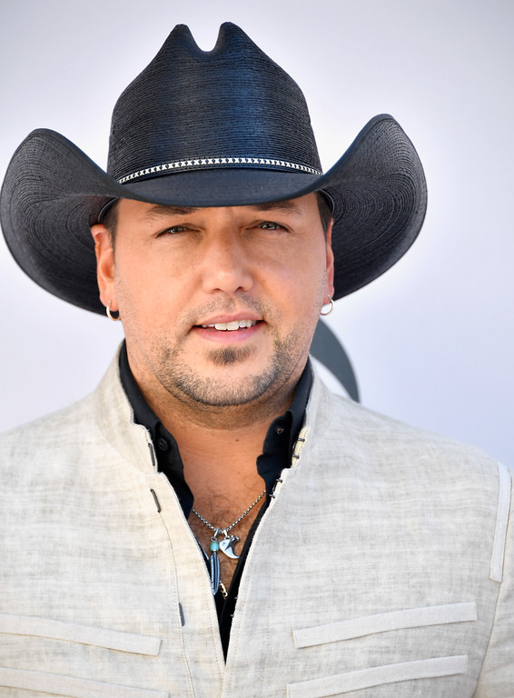 . LAS VEGAS, NV - APRIL 02:  Recording artist Jason Aldean attends the 52nd Academy Of Country Music Awards at Toshiba Plaza on April 2, 2017 in Las Vegas, Nevada.  (Photo by Frazer Harrison/Getty Images)