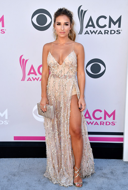 . LAS VEGAS, NV - APRIL 02:  Singer Jessie James Decker attends the 52nd Academy Of Country Music Awards at Toshiba Plaza on April 2, 2017 in Las Vegas, Nevada.  (Photo by Frazer Harrison/Getty Images)