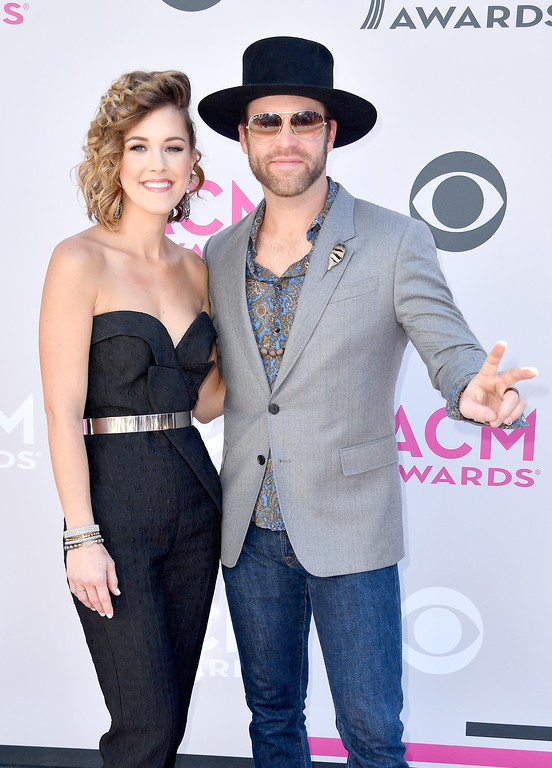 . LAS VEGAS, NV - APRIL 02:  Alex White (L) and singer Drake White attend the 52nd Academy Of Country Music Awards at Toshiba Plaza on April 2, 2017 in Las Vegas, Nevada.  (Photo by Frazer Harrison/Getty Images)