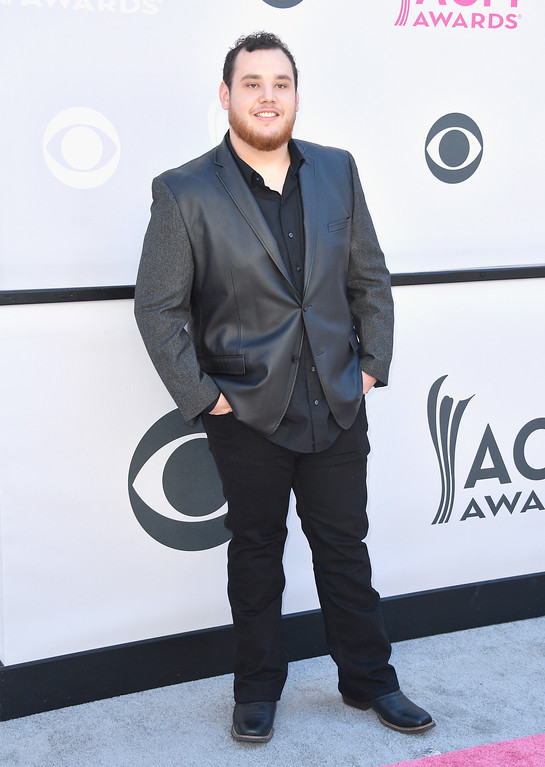 . LAS VEGAS, NV - APRIL 02:  Recording artist Luke Combs attends the 52nd Academy Of Country Music Awards at Toshiba Plaza on April 2, 2017 in Las Vegas, Nevada.  (Photo by Frazer Harrison/Getty Images)