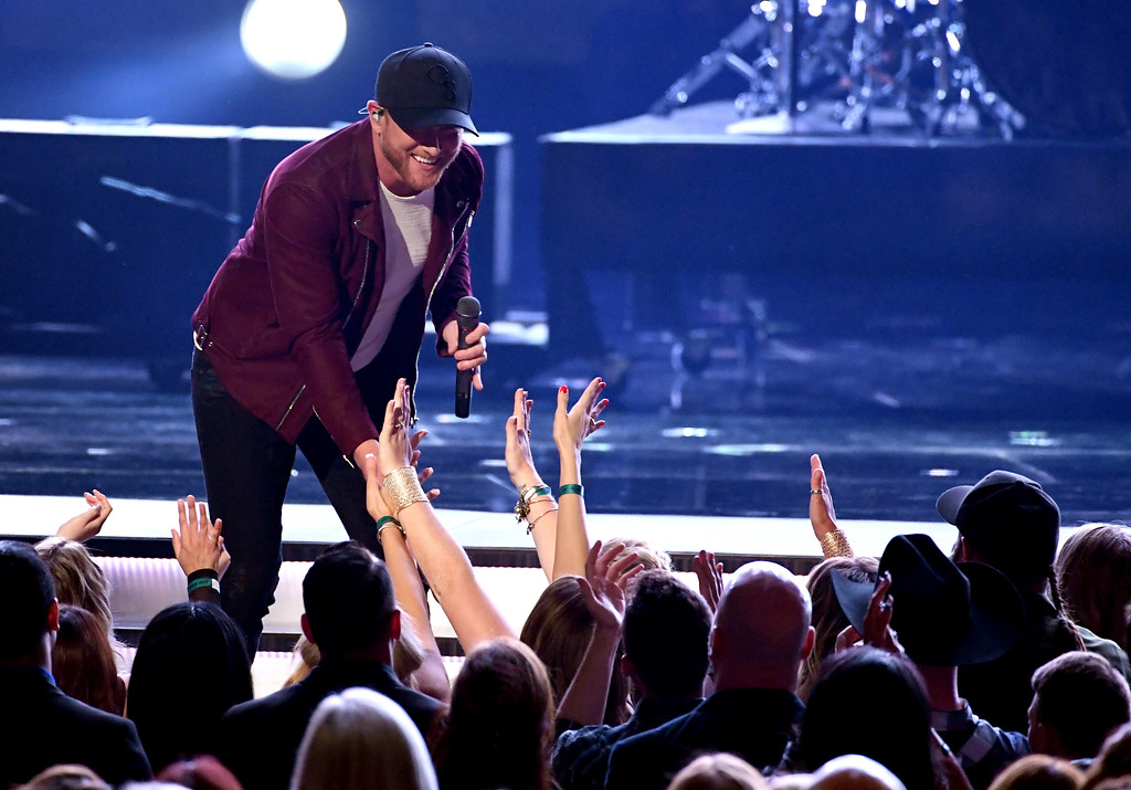 . LAS VEGAS, NV - APRIL 02:  Recording artist Cole Swindell performs onstage during the 52nd Academy Of Country Music Awards at T-Mobile Arena on April 2, 2017 in Las Vegas, Nevada.  (Photo by Ethan Miller/Getty Images)