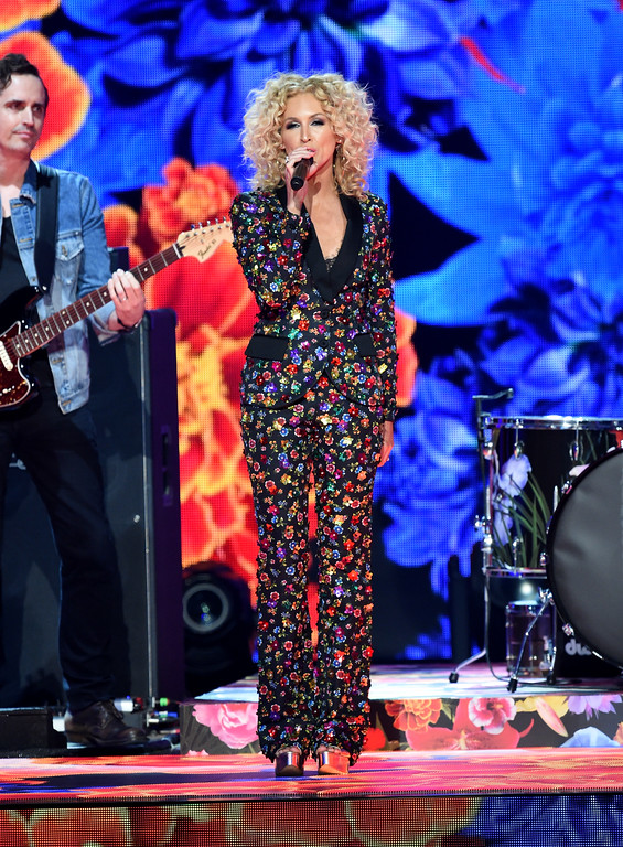 . LAS VEGAS, NV - APRIL 02:  Recording artist Kimberly Schlapman of music group Little Big Town performs onstage during the 52nd Academy Of Country Music Awards at T-Mobile Arena on April 2, 2017 in Las Vegas, Nevada.  (Photo by Ethan Miller/Getty Images)